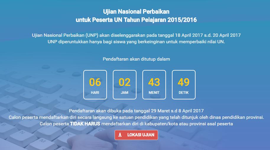Jadwal & Lokasi UNP 2017 di Kab. Barru