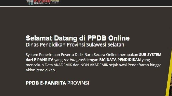 Hari Pertama PPDB Sulsel Jalur Zonasi Tercatat 72.776 Pendaftar