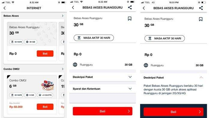 Telkomsel gratiskan 30GB untuk Akses Belajar Online via Ruangguru